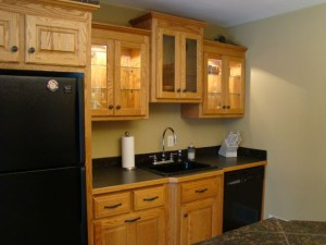 Oak Cabinets (before)