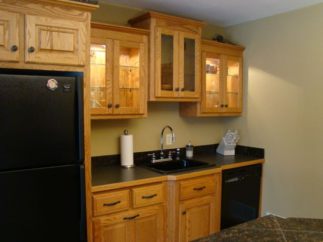 Awesome Oak Cabinets Before